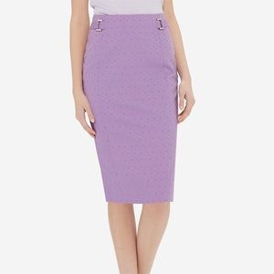 The Limited High waist jacquard pencil skirt
